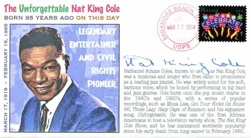 COVERSCAPE computer designed 95th anniversary birth of Nat King Cole event cover