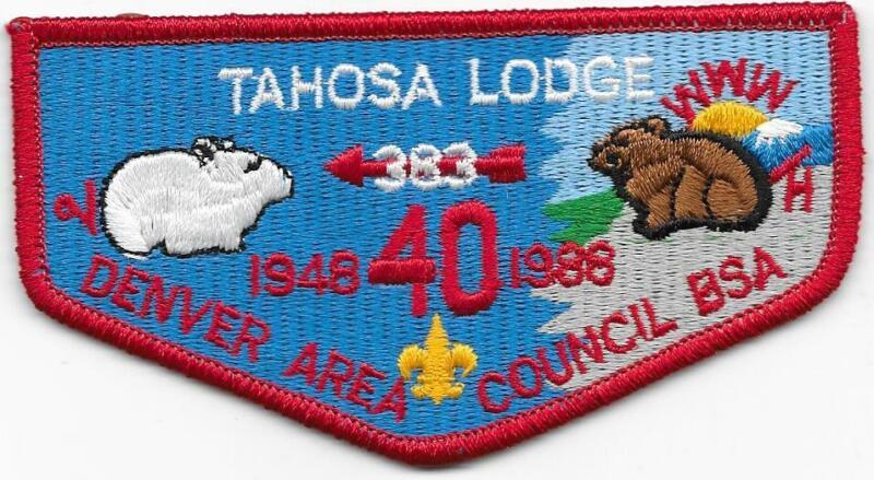 S15 Tahosa Lodge 383 Order of the Arrow OA Boy Scouts of America BSA
