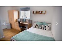 Ensuite Double Bed Room at Firhill Court Homes for Students