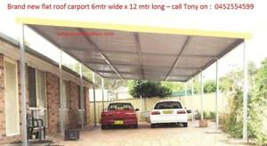Factory moving Brand new Flat roof carport, 6M wide X 12M long Canberra City North Canberra Preview
