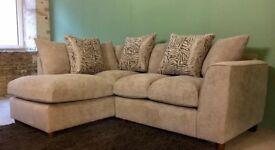 NEW Furniture Village Mink Corner Sofa, Can Deliver