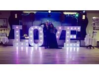 5FT LED LOVE LETTERS TO HIRE £120