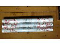3 X rolls of unopened new cranberry Laura Ashley Ironwork scroll wallpaper