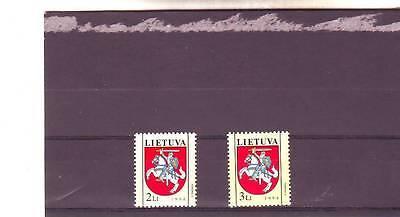LITHUANIA - SG567-568 MNH 1994 STATE ARMS