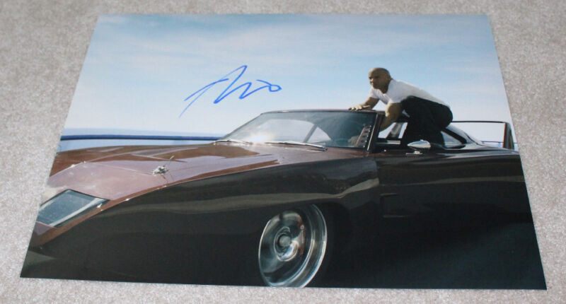 VIN DIESEL SIGNED AUTHENTIC 'FAST & FURIOUS' 11X14 PHOTO D w/COA xXx PAUL WALKER