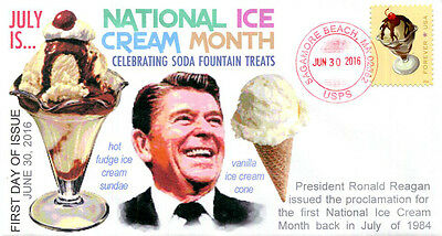 COVERSCAPE COMPUTER GENERATED SODA FOUNTAIN FAVORITES 2016 FOREVER STAMP U/O FDC