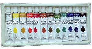 12 Tubes Paint Set Professional Artist WATERCOLOR Paints Painting Pigment 12ml