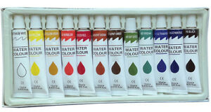12 PC WATERCOLOR PAINT Set Professional Artist Painting Pigment 12ml Tubes