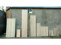 Prime Oak Worktop and Oak Veneer pieces.