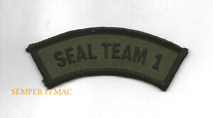 SEAL-TEAM-ONE-1-TAB-HAT-PATCH-SPECIAL-OPERATIONS-SCUBA-US-NAVY-Base-Coronado-WOW