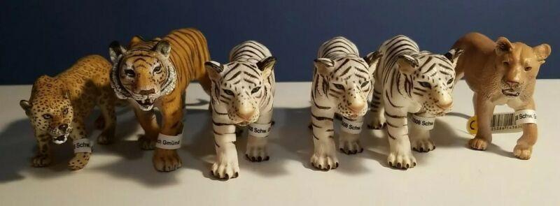New RETIRED (6) Schleich AFRICAN Animals BIG CATS, LION, TIGERS & LEOPARD