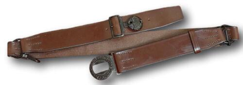 Reproduction Boy Scout Uniform Leather Belt With 2 Part Buckle & Split Rings
