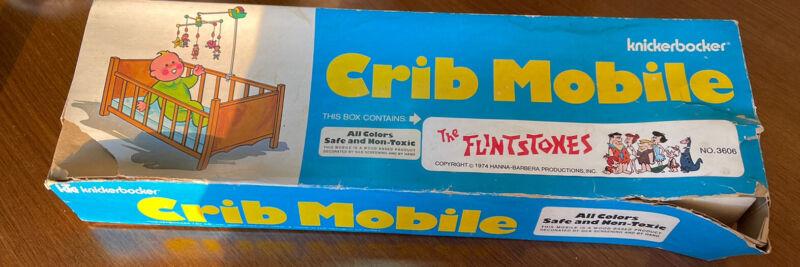 RARE! 1974 the Flintstones Baby crib mobile Knickerbocker VINTAGE