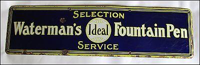 Antique Waterman Ideal Fountain Pen Enameled Porcelain Sign (REF.#  8208)