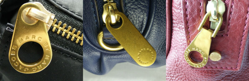 Examples of Genuine Mac By Marc Jacobs zipper pulls.