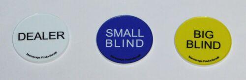 Poker Buttons Dealer Small Blind Big Blind Texas Hold