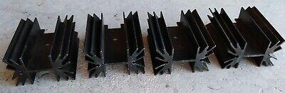 4 Large Aluminum Heatsinks For Transistor Or Triac - Black Anodized Aluminum Nos