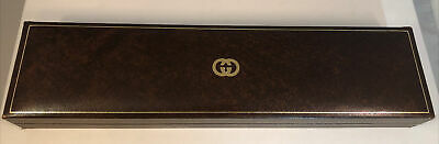 VTG Gucci Watch Box Brown Gold Necklace Display G2 Vintage