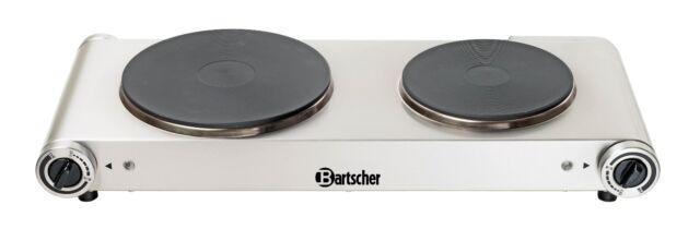 Bartscher Elektro Doppelkochplatte 150310 Camping Kocher Edelstahl Kochplatte