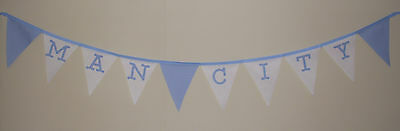 Football Fabric Bunting Banner Bedroom Party Decoration MAN CITY CHRISTMAS Gift