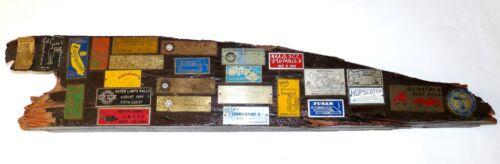 26 1960s Hot Rod Car Show Rally Badges Dash Plaque Board Display California