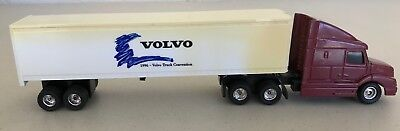"""Volvo 1996 Truck Convention Mini Tractor Trailer 10"""" Diecast Cab, used for sale  Shipping to India"""