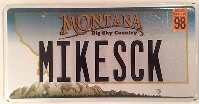 Montana vanity MIKE S CK license plate MT Michael Mickey Mikey