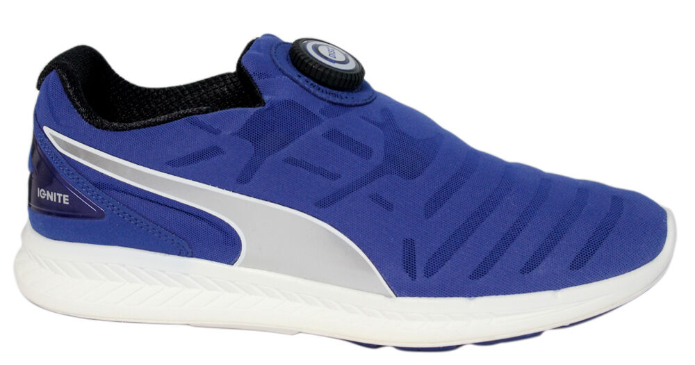 a2edc458e07 Details about Puma Ignite Disc Slip On Running Shoes Mens Trainers Navy  188616 02 D29