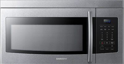 Open-Box Excellent: Samsung - 1.6 Cu. Ft. Over-the-Range Microwave - Stainles...