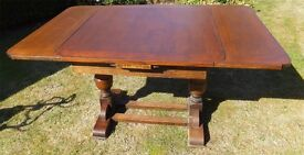 Extendable Wooden Dining Room Table