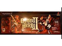 PS2 Guitar Hero 2 Game & Guitar