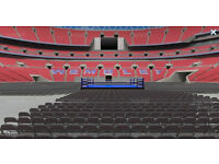 Flat floor tickets for the anthony joshua vs klitschko boxing fight - Best experience