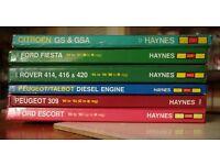 Selection of Haynes Manuals