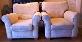 Two arm chairs purchased from Julian Foy Wadebridge