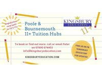 11+ Tuition Hubs - Poole & Bournemouth - Y5 & 4 children - Tutor