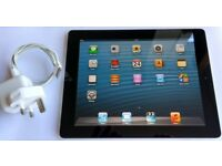 APPLE IPAD 2 16GB WI-FI BLACK MODEL A1395 INCLUDES GENUINE APPLE CHARGER