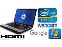 WOHO HP 630 Laptop i3,,4GB,500GB Win7, OpenOffice, WEBCAM, HDMI