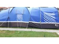 Hi gear voyager 6 tent with porch and carpet and accessories