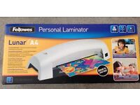 Personal A4 Laminator by Fellows, Brand New in Box.