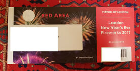 2x tickets London Fireworks - red area