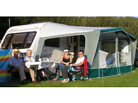 Caravan Full Awning. Eurovent Sancerre in Green 856cms and Trigano Lightweight fibreglass poles