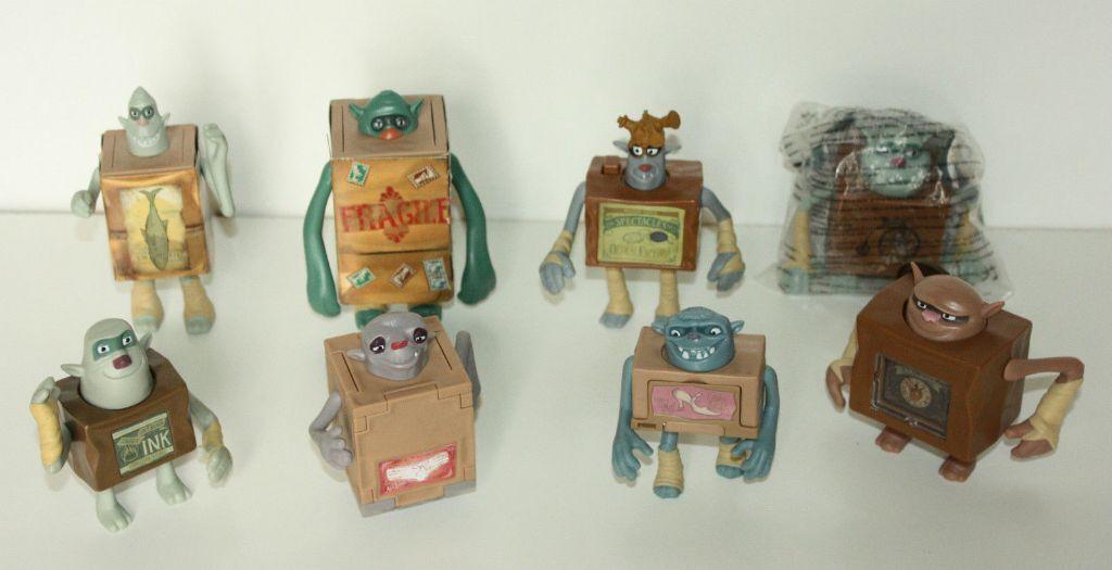 Boxtrolls Mcdonalds Toys Complete Set Fragile Ink Wheels