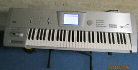 Korg Trinity Plus 61 key workstation, Factory reset and new battery installed plus extras