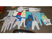 baby boy girl 12-18 mths trousers all in one tops vests large big mega job lot bundle clothes 20 pcs