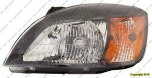 Head Light Driver Side Black Bazel (Sedan/Rio 5) High Quality Kia Rio 2009-2011