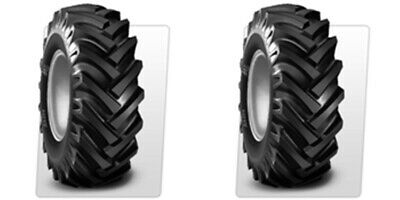 Two 5.00-15 R-1 Lug Compact Farm Tractor Tires Tubes 6ply Rated Bkt Hay Rake