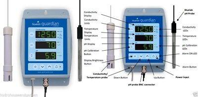 Bluelab Guardian Monitor pH Temp EC Conductivity Meter Hydroponic Blue Lab water Guardian Monitor