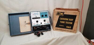 Vintage Bk Cathode Ray Tube Tester Model 465