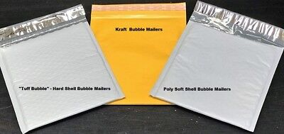Choose Material Quantity 1-3000 Tuff Bubble Kraft Or Poly Bubble Mailers