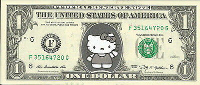 Hello Kitty Dollar Bill - REAL, Spendable Money! - Not Just a Novelty!